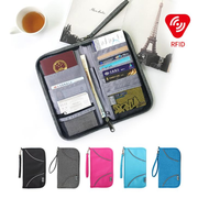 RFID Antimagnetic Nylon Waterproof Card Holder Passport Bag Travel Storage Bag