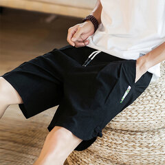 Men's Cotton Linen Breathe Fabric Loose Casual Shorts Vintage Chinese Style Pants