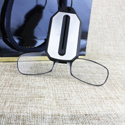 Clip Nose Reading Glasses PC Lens Without Mirror Legs Ultra-Light Keychain Glasses Unisex Eye Care