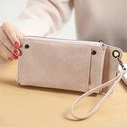 Женский кошелек PU Card Phone Wallet 13 Слоты для карт Кошелек большой емкости Wristlet Wallet Кошелек