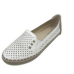 Women Casual Lazy Slip On Polka Dots Flat Loafers