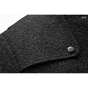 Fall Stylish Multi Pockets Jackets Woolen Slim Stand Collar Trench Coats for Men