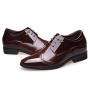 Chaussures habillées à talons cachés pour hommes, chaussures à lacets, pour chaussures à hauteur croissante