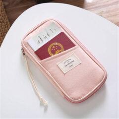 Сумка для хранения хлопка для путешествий Многофункциональная сумка для документов Держатель паспорта Держатель билетов