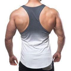 Mens Summer Gradient Color Sleeveless Breathable Sweat Regular Fit Workout Tank Tops