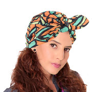 Women Soft Turban Rabbit Ears Set Head Cap Colorful Breathable Casual Shopping Beanies Hat