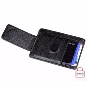RFID Antimagnetic Woman Man Purse Wallet Cow Leather Card Wallet 3 Card Holders