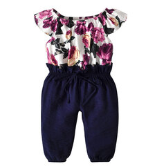 Floral Printed Girls Cotton Soft Jumpsuit For 1-9Y