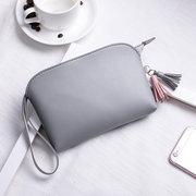 Donne Pure Color PU in pelle da 5,5 pollici Phone Borsa Coin Borsa Titolare della carta borsa