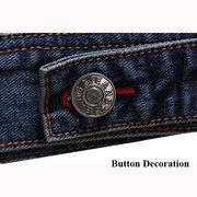 Moda casual autunno autunno stile coreano Sottile doppio petto tasche giacche di jeans per gli uomini