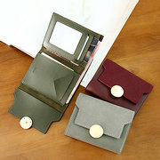 Women Retro PU Leather Trifold Small Wallet Soft Coin Purse 5 Card Slot Multi-function Wallet
