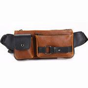 Homens Sacos De Cintura Ao Ar Livre Ocasional Do Vintage Lazer Esporte Crossbody Bag