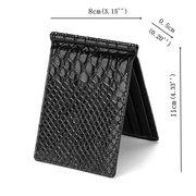 4 porte-cartes en cuir PU portefeuille crocodile porte-carte échelle porte-monnaie pour les hommes