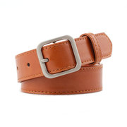 Super alta qualità in fibra di fondo Cintura Exquisite Square Buckle Ladies Decoration con studente Wild Cintura