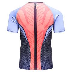 Mens Caveira Impressão de Secagem Rápida Skinny Fit Aptidão Basquete Jogging O-Neck Sport T-shirt