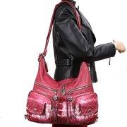 Sac à dos femme Casual Shopping Sac multi-poches Sac à bandoulière en cuir PU
