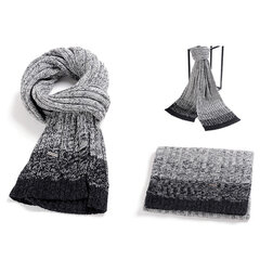 Men Cashmere Knitted Patchwork Thickening Warm Fashion Wrap Scarves Shawl Outdoor Comfortable Scarf