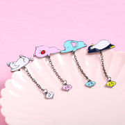 Lovely Sleeping Animals Penguin Pig Elephant Cat Cartoon Metal Backpack Brooch Kid's Brooches Pins