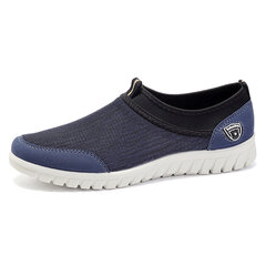 Large Size Men Comfy Elastic Slip On Walking Sneakers