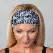 Fascia per capelli da donna sportiva in seta di seta da donna