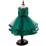 Girls Formal Dress Kids Beading Sleeveless Princess Dresses For 3Y-13Y