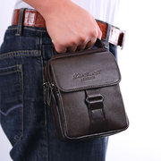 Genuine Leather Waist Bag Business Sling Bag Dual-use Handbag For Men