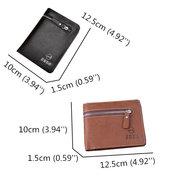 Mens Wallet Cowhide Genuine Leather Purse Business Simple Slim Wallet