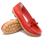 Bowknot Slip On Casual Soft Flat Loafers Женская обувь