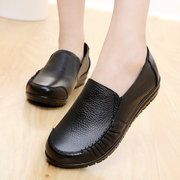 Big Size Leather Comfortable Moccasins Soft Casual Women Flat Shoes