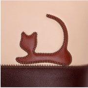 Gato bonito Coelho Animal Impressão Doce Mulheres Bolsa Grande Capacidade Zipper Cat Bolsas Ombro Bolsa