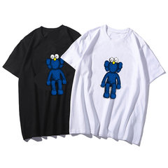 T-shirt Sesame Street Femminile a maniche corte Sciolto New Ins Net Red Small Flying Elephant Lovers White Compassionate