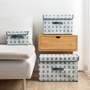 Non-Woven Large Storage Box Fabric With Cover Clothes Storage Box Foldable Clothes Storage Box
