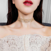 Fashion Choker Necklace Grenadine Mental Paillette Clavicalis Necklace Trendy Jewelry for Women