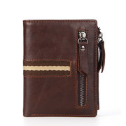 Multi-functional Genuine Leather Coin Pocket Wallet For Men
