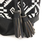 Women Vintage National Style Tassel Bucket Shoulder Bag