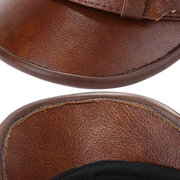 Men's PU Leather Warm Octagonal Flat Hat Casual Ourdoors Vintage Adjustable Cap