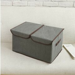 Large Size Non-woven Fabrics Clothes Storage Box Cotton Linen Cardboard Container