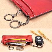 Porte-monnaie pour femme avec porte-cartes vintage en cuir véritable à la cire véritable en cuir véritable