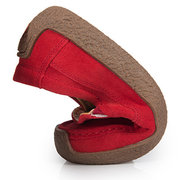 Womens Breathable Suede Slip On Flat Lazy Shoes