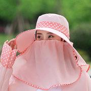 [Achetez One obtenez deux gratuitement] Chapeau de seau pour femme avec masque amovible Chapeau de parasol multifonction