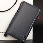9 Card Holders Clutch Bag Business Big Capacity Wallet Pu Leather Phone Bag For Men