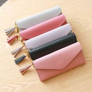 Women  Stylish PU Leather Multi-slots Long Wallet Card Holder Purse