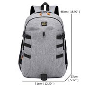 Large Capacity Oxford Casual Travel 18 Inch Laptop Bag Backpack For Men Women