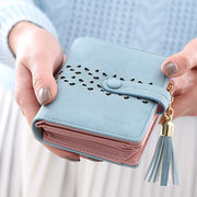 Women PU Leather Embroidery Wallet Purse Cute Coin Bag