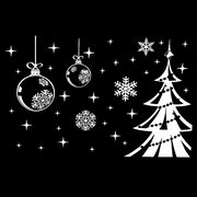Removable Wall Stickers Decal Christmas Tree Snowflake Shop Window Decor