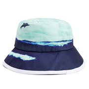 Women Cotton Anti-UV Protection Oil Painting Bucket Hat Travel Wide Brim Sunshade Fisherman Hat