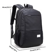 Oxford Backpack With USB Charging Port Casual Business Laptop Bag For Men