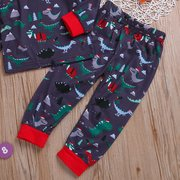 2Pcs Dinosaur Print Boys Clothing Sets Pajamas Sets For 2Y-9Y