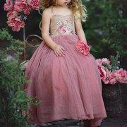 Robes de filles de fleur robe patchwork sangle pendant 3-13 ans