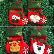 Décoration de Noël Chaussettes Bonhomme de neige Cadeaux De Noël Personnes âgées ours Cerf pour arbre de Noël